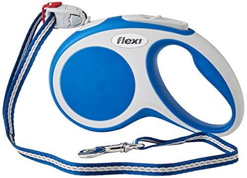 flexi Roll-Leine Vario S Seil 5 m blau für Hunde bis max. 12 kg