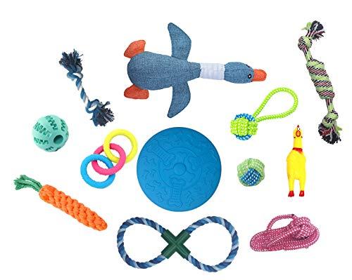 Angel's Pride Hunde Spielzeug Set 12 Stück, Kauspielzeug, Seilspielzeug für kleine und mittelgroße...