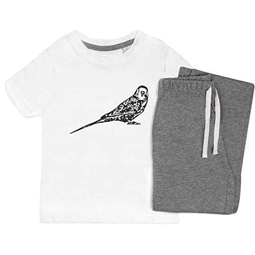 Azeeda 3-4 Jahre 'Wellensittich' Kinder Nachtwäsche / Pyjama Set (KP00041197)