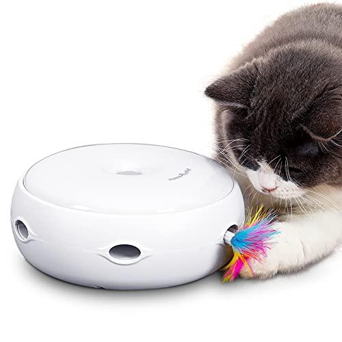 HAPPY HACHI Intelligenzspielzeug Interaktiv Katzenspielzeug DREI Modi Tag und Nacht Elektronisch...