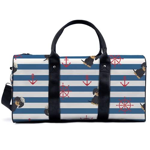 Sporttasche mit Welpen- und nautischen Motiven, für Reisen, Yoga, Camping, große Schultertasche,...