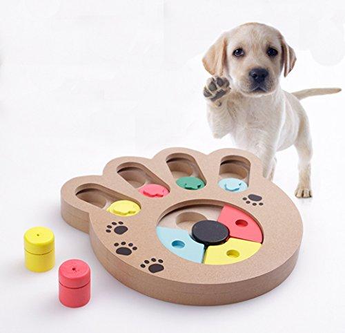 FakeFace Hunde Lernspielzeug Strategiespiel Holz Multifunktionale Hundespielzeug für füttern und Spaß...