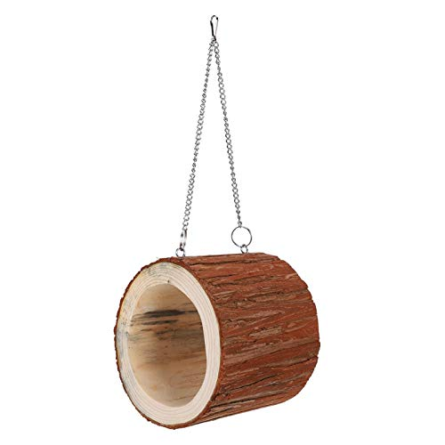Jingyig Pet Tree Hole Toy, Holz Harmless Ungiftiges Tree Hole House, Schön für Hamster Eichhörnchen...