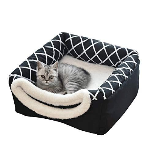 Bluelucon Katzenhöhle Körbchen Katzenhaus Katzenbett weicher Filz Kuschelhöhle für Katzen und Kleine...