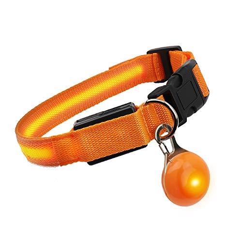 SNUNGPHIR LED Hundehalsband Wasserdichtes Leuchtendes Hunde Halsband Aufladbar Hundehalsband mit...
