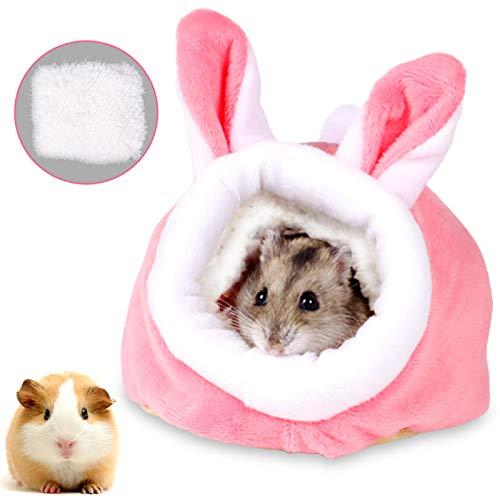 Kleintierbett Hamster, Kleine Tier Haus Nest,Haustier Bett,Warm Plüsch Kuschelhöhle,Hamster...