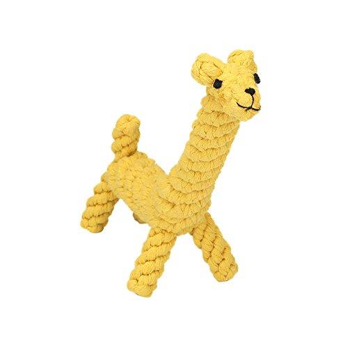 Vivifying Kauspielzeug für Welpen, aus Langlebiger Geflochtener Baumwolle Hundespielzeug Giraffe für...