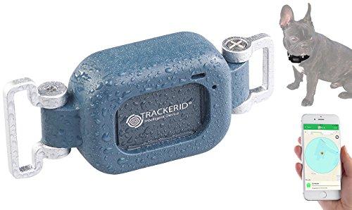 TrackerID GPS Tracker ohne ABO: GPS- & GSM-Live-Tracker für Hunde und Haustiere, mit Halterung, IP67...