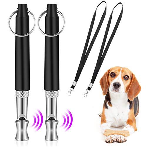 QIUDI Hundepfeife [2 Stücke], Professionelle Ultraschall-Hundetrainingspfeife mit mit Schlüsselband...