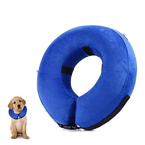 YAMI Aufblasbares Haustierhalsband, Schützender Aufblasbarer Kragen für kleine und mittlere Hunde und...