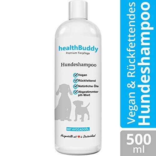 healthBuddy Premium Hundeshampoo mit natürlichem Avocadoöl – Made in Germany – Entfernt unangenehme...