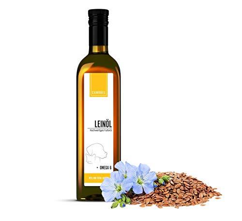 Canobel Leinsamenöl/Leinöl - kaltgepresst, Barf Zusatz, Rohfütterung, Fütterungsöl, Hundefutter,...