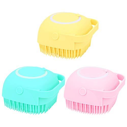 xueren Haustier-Bürste für Hunde und Katzen, ultraweiche Silikon-Pflege-Massagebürste, Shampoo-Bürste...