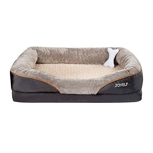 JOYELF X-Large Foam Hundebett Kleines orthopädisches Hundebett & Sofa mit abnehmbarem waschbarem Bezug...