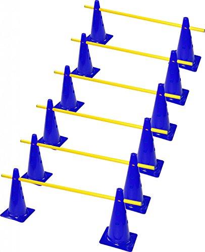 RHINOS sports Steckhürdenset 6er   30cm   blau