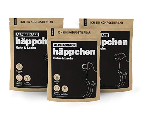 alphazoo häppchen | Leckerli Hunde getreidefrei| gesunder Fleischsnack zur Belohnung und Training |...