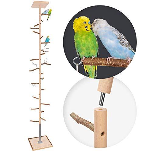 Zimmerhoher Vogel-Kletterbaum 190-192 cm HiFly Basic mit Naturholz-Sitzstangen, Vogel-Spielzeug,...