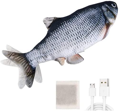 Huarumei Katzenspielzeug Elektrisch Fisch, Flipity Fish USB Interaktives Katzen Spielzeug mit...