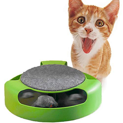 Xinhongzhan Interaktives Katzenspielzeug,Automatisch rotierende Maus Katzenspielzeug Nicht fangbare...