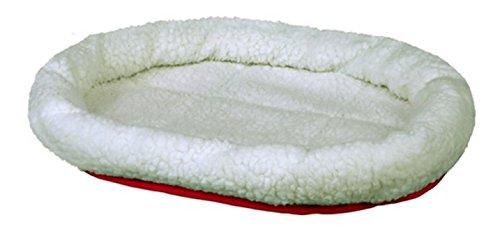 Trixie 28631 Kuschelbett, 47 × 38 cm, wollweiß/rot