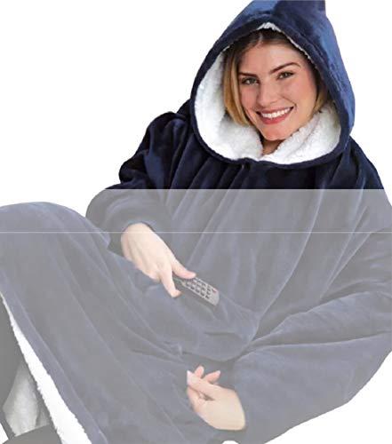 Tuopuda Hoodie Damen Herren Übergroße Decke Sweatshirt Pullover mit Kapuze Langarm Kapuzenpullover...
