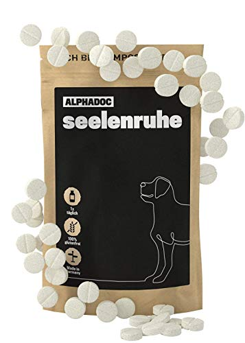 alphazoo seelenruhe 50 Tabletten | Entspannung & Stressminderung für Hunde | Beruhigungsmittel mit...