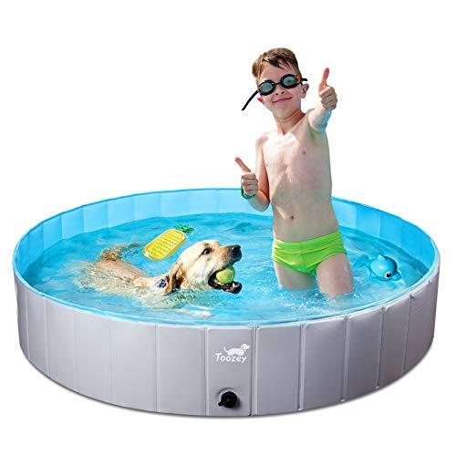 Toozey Hundepool für Große & Kleine Hunde, 80cm / 120cm / 160cm Faltbare Hunde Pools, Planschbecken...