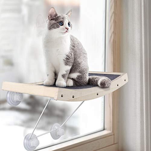 JOYO Katzen Hängematte Katzen Fensterplätze Sonnenbad Katzenbett, Leistungsstarker Saugnapf Robuster...