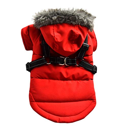 Savlot Winter Hundejacke Winter Weste Windbreaker Pet Warmer Mantel Hunde Hoodie Hundemantel mit...