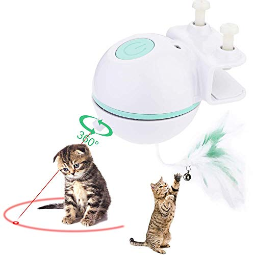 COWINN Katzenspielzeug Elektrisch Katzenball Interaktives Spielzeug Automatischer Clip Ball Katzen...