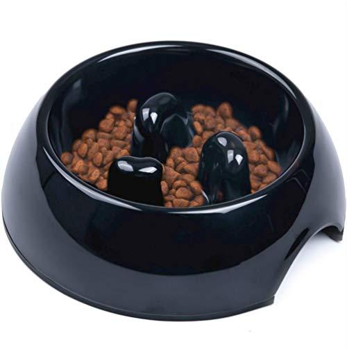 SuperDesign Hundenapf Anti Schling, rutschfest Fressnapf zur Langsameren Nahrungsaufnahme, Futternapf...