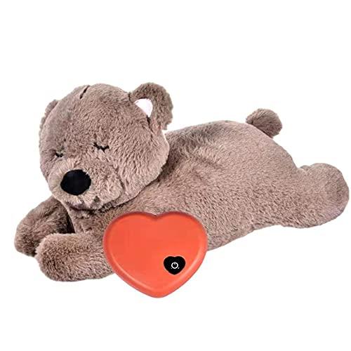Memea Welpenspielzeug mit Herzschlag Hund Beruhigendes Verhaltenstraining Spielzeug Schlafendes Tier...