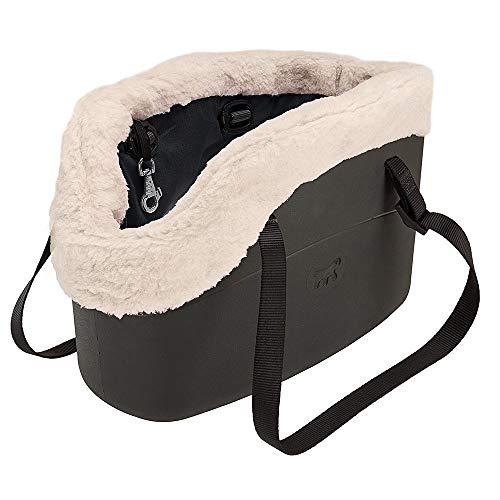Ferplast 79515017 Hundetragetasche, Maße: 21,5 x 43,5 x 27 cm, schwarz