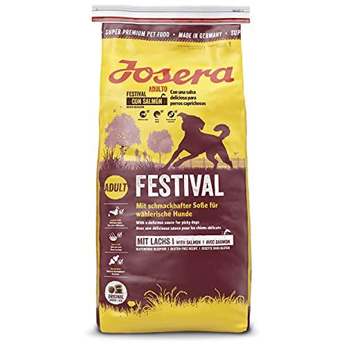 JOSERA Festival (1 x 15 kg) | Hundefutter mit leckerem Soßenmantel | Super Premium Trockenfutter für...