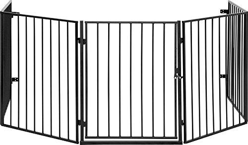 ib style® CATO | Kaminschutzgitter | erweiterbar | Doppelverschluss | 5tlg/300cm Schwarz
