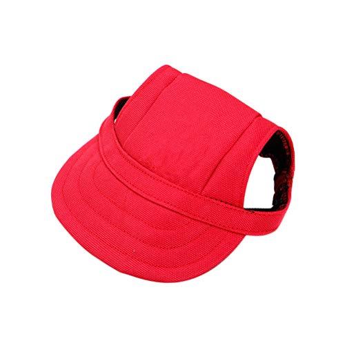 Popetopop Hut für Hunde, Baseballkappe für Hunde, verstellbar, mit Ohrlöchern, Sonnenschutzhut, für...