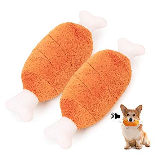 2 PCS Hunde Quietschspielzeug Set, Interaktives Spielzeug Hund, Geeignet für Kleine und Mittelgroße...