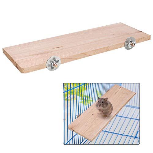 Hamster Plattform Rechteck Naturholz Ständer Plattform Pet Pedal Board Käfig Kauen Spielzeug Kleintiere...