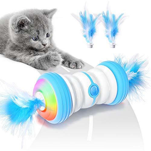Jionchery Interaktives Elektrischer Katzenspielzeug Automatisch Selbstrotierendes Intelligentes Katzen...