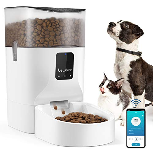 Lewondr 7L Automatischer Futterautomat für Katze und Hund, Futterautomat Katzen mit APP Steuerung,1-12...