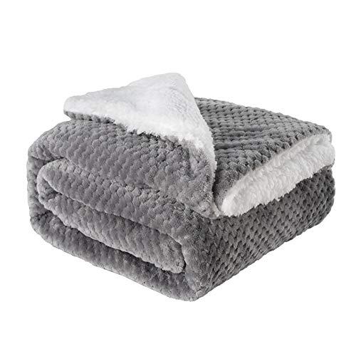 Kabxhueo Flauschige Haustierdecke 150X120cm-Super Softe Warme und Weiche Hundedecke,Cosy Sherpa Fleece...