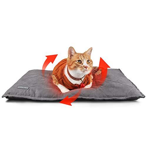 Mora Pets Selbstheizende Decke für Katzen Hunde Selbstwärmende Katzendecke Wärmedecke Katze Hund 89 x...