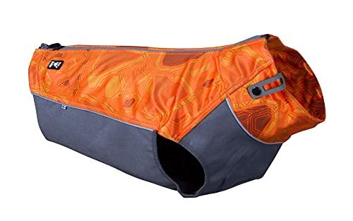 Hurtta Worker Vest Warnweste, Jagdjacke für Hunde, Orange Camouflage Hundemantel für Outdoor...