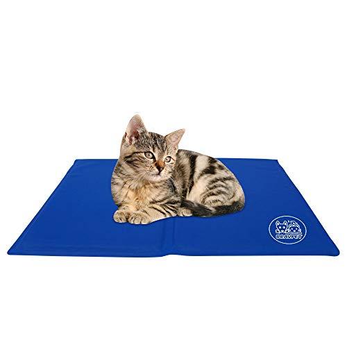 Bravpet Kühlmatte für Haustiere Haustier Selbstkühlendes Pad Matte Bettmatten Komfort für Katzen und...