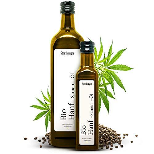 BIO Hanfsamenöl von Steinberger | 100% rein & kaltgepresst I Hanfsamenöl mit nussigem Geschmack aus...