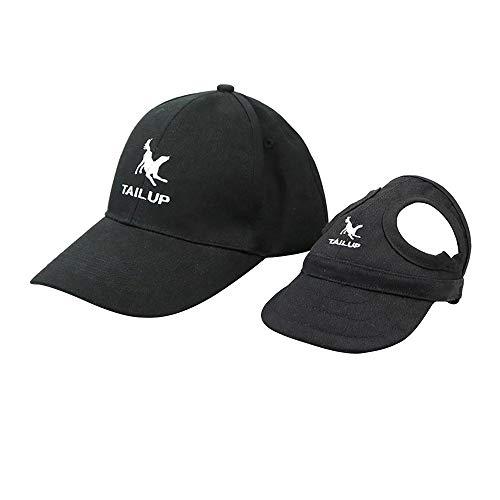 AZXAZ 2 Stück Hund Mama/Papa Baseballmütze Segeltuch Haustier Eltern-Kind-Hut Für Hunde Katzen und...