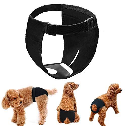LeerKing 3er Pack Höschen Hündin Hundehose mit Damenbinde für die Monatsblutung Waschbare...