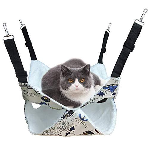 Doppelschicht Hängebett für Katze, Schla Fsack Design für Kätzchen, Hängematte für Gross Katzen,...