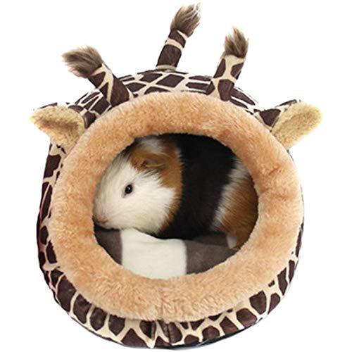 YUEKUN Kleintierbett Kuschelbett Warm Plüsch Baumwolle Tierbett Schlafen Bett Höhle Zubehör für...