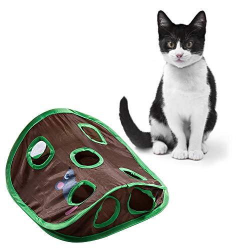 Apofly Cat Interactive Toy, Katzen Spielzeug-Matte Mit 9 Holes Tunnel Spielzeug Cat Activity Spiel-matten...
